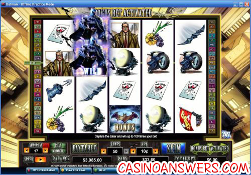 batman video slot