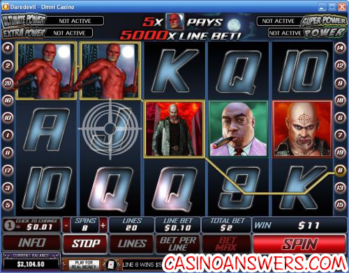 daredevil movie playtech video slot machine