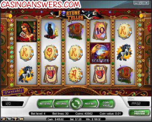 fortune teller slot machine big win