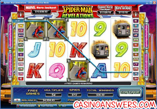 Spiderman Marvel Slot 1