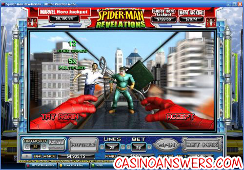 Spiderman Revelations Marvel Slot Bonus Game