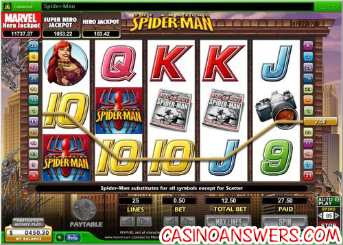 Marvel Spiderman Video Slot 1