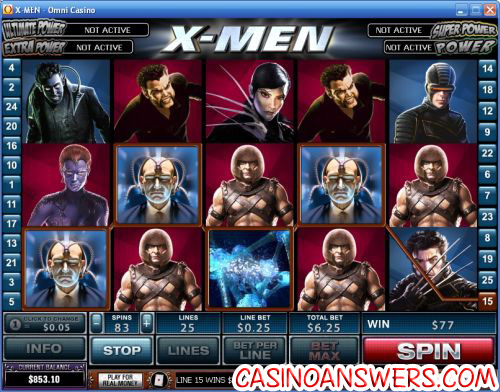 Xmen Video Slot Machine Marvel 1