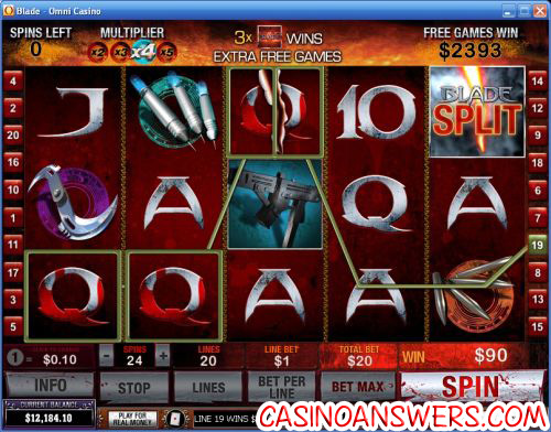 blade marvel video slot