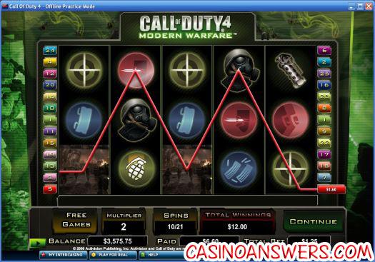 Call Of Duty 4 Slot Machine