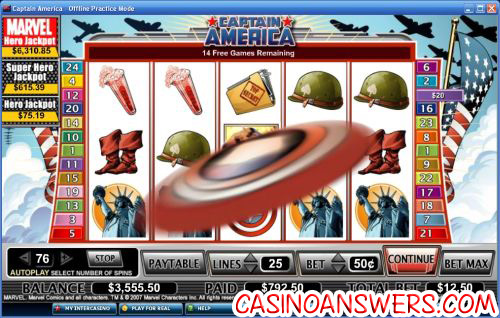 captain america marvel slot 1