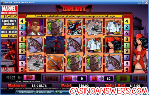 daredevil marvel comic slot 1