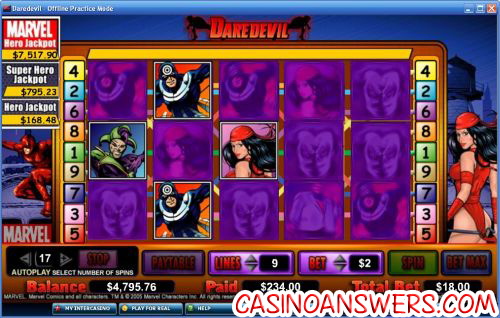 daredevil marvel comic slot 2