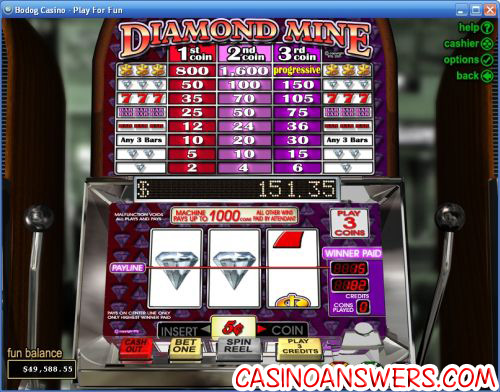 diamond mine slot machine