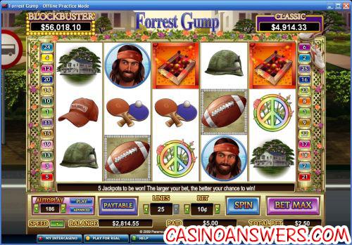 forrest gump video slot