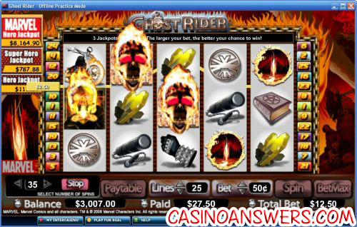 ghost rider marvel comic video slot 1