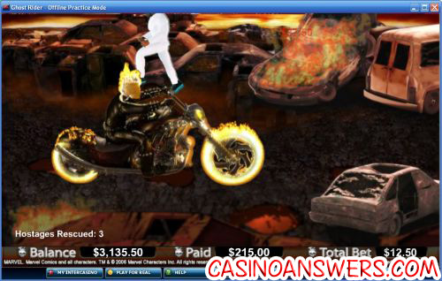 ghost rider marvel comic video slot 2