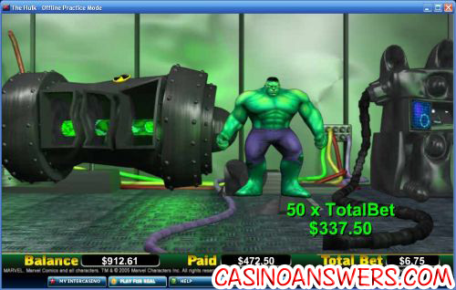 hulk marvel comic video slot 2
