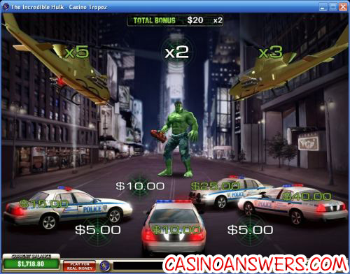 Incredible Hulk Playtech Marvel Comics Video Slot