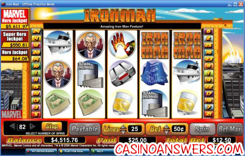 Ironman slot machine