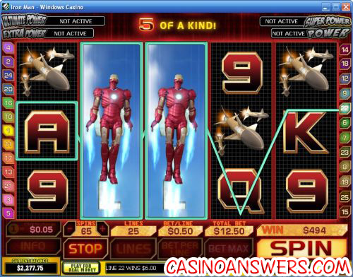 Iron Man Playtech Marvel Comics Video Slot