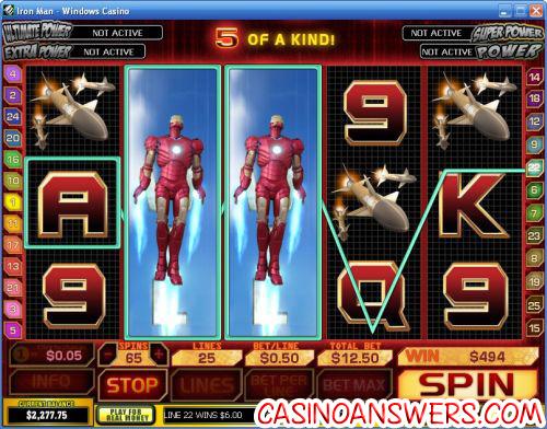 Iron Man Playtech Marvel Comics Video Slot