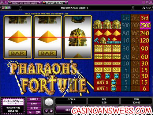 pharaohs fortune slot machine