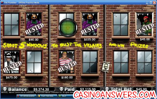 punisher marvel video slot 2