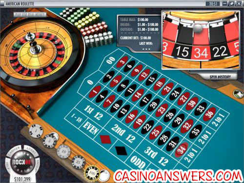 roulette betting layout