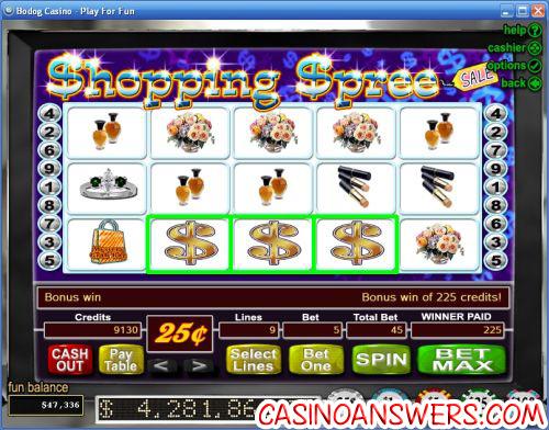 shopping spree video slot