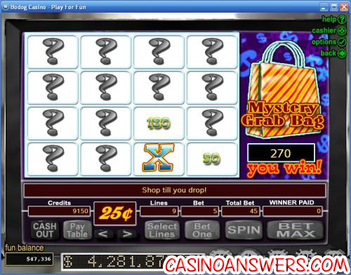 shopping spree slot bonus game
