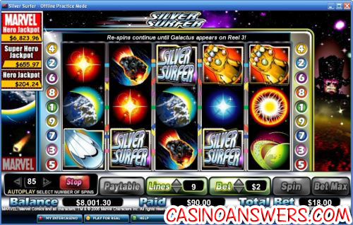silver surfer slot 1