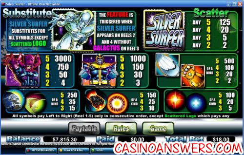 silver surfer marvel slot 2