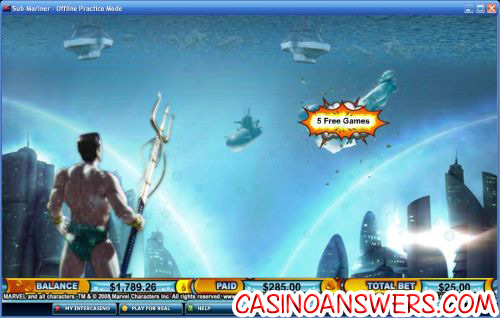 sub mariner marvel slot 2