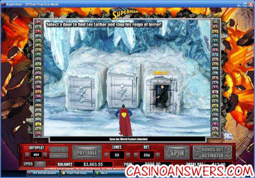 Superman DC Comics Video Slot