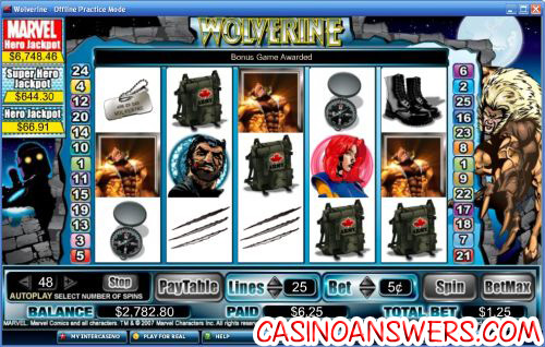 wolverine video slot