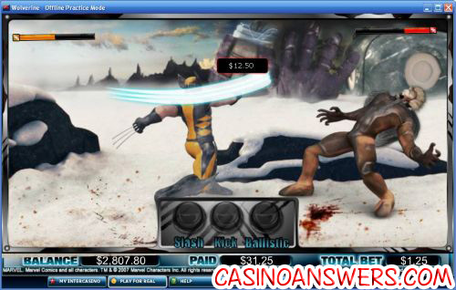 wolverine slot marvel bonus game