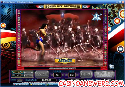 wonder woman dc video slot 2