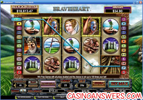 braveheart video slot 1
