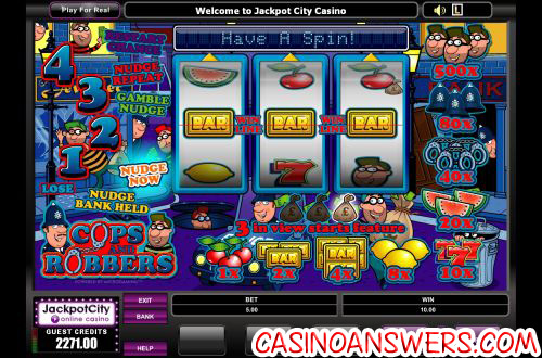 cops and robbers fruit machine 1