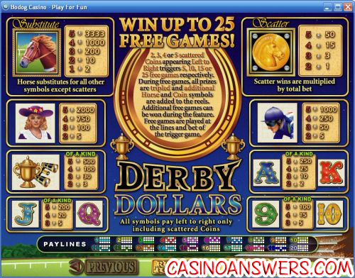 derby dollars rtg video slot 2