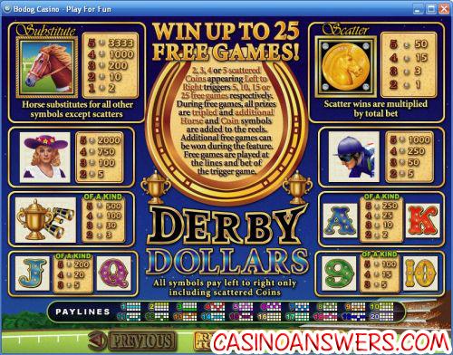 derby dollars rtg video slot 2