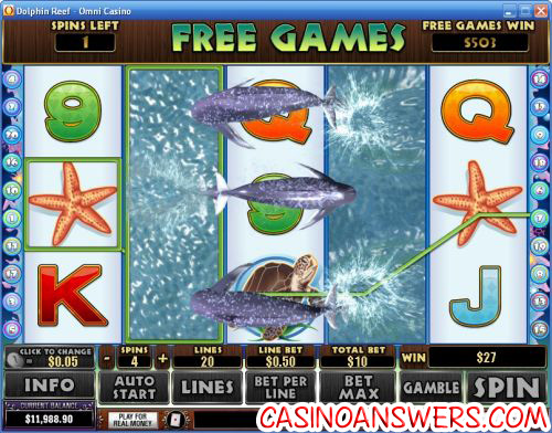dolphin reef playtech video slot 1