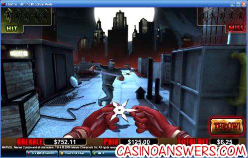 elektra marvel comic video slot 2