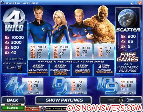 fantastic four slot 2