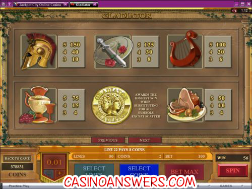 gladiator slot machine 2