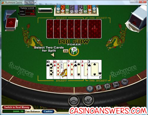 pai gow poker rules 2