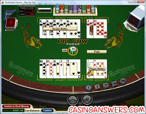 how to play pai gow poker rules