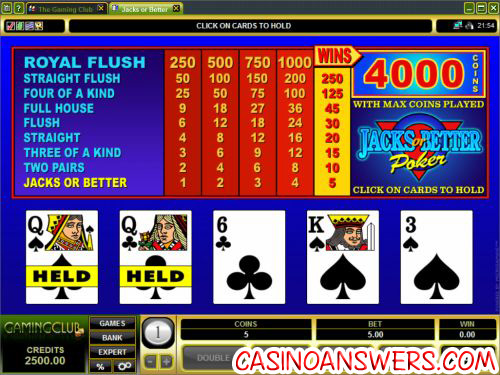 how to play video poker 2