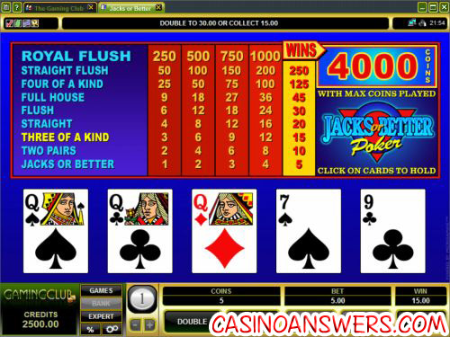 how to play video poker 3