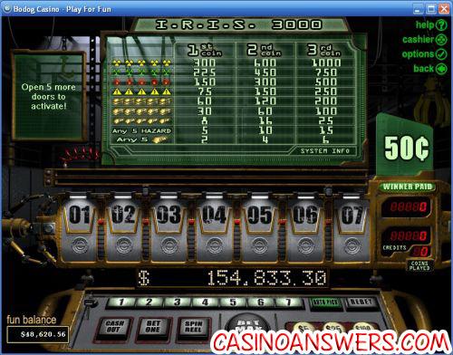 iris 3000 rtg slot machine