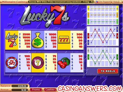 lucky 7s video slot vegas tech 2