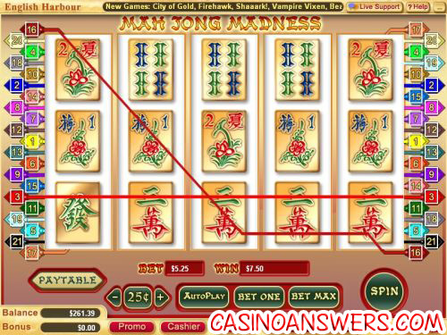 mah jong madness video slot