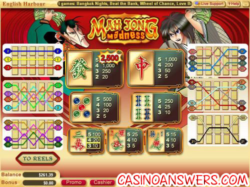 mahjong madness video slot