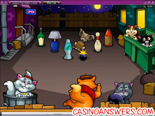alley cats video slot bonus game